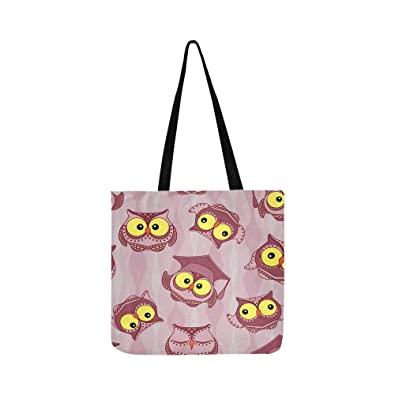 f1b9e2a6 Amazon.com: Amusing Owls Big Yellow Eyes On Stock Illustration Canvas Tote  Handbag Shoulder Bag Crossbody Bags Purses For Men And Women Shopping Tote:  Shoes