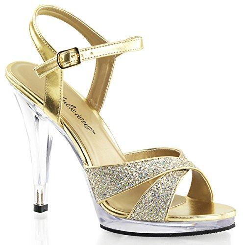Heels-Perfect - Sandalias de vestir de material sintético para mujer dorado - Gold (Gold)