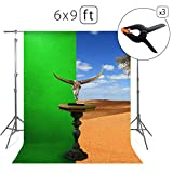 Tang Jie Green Screen Photo Background For Photography Or Videography 100% Cotton Muslin Backdrop Chromakey Photography Studio Booths Props 6 x 9ft