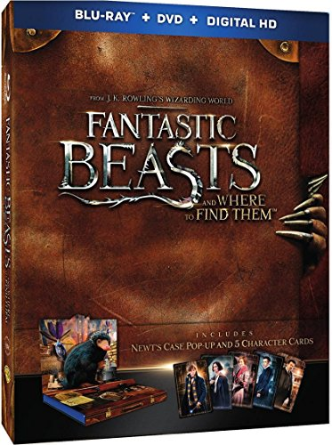 Fantastic Beasts and Where to Find Them || Blu-ray + DVD + Digital Copy (Newt's Case Pop-Up Presentation + 5-Character Cards) English, Spanish & French (Audio & Subtitles)