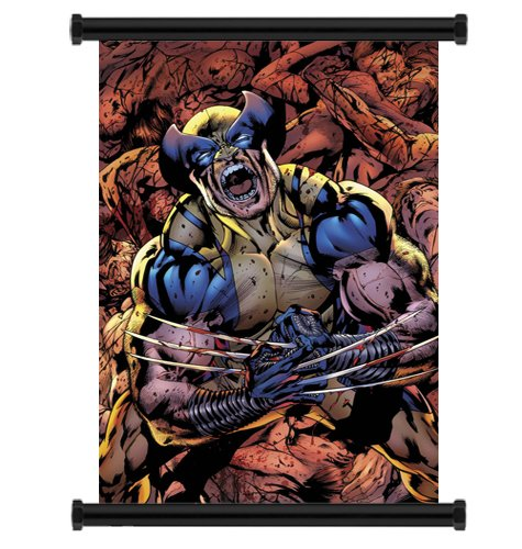 Wall Scrolls X-Men Wolverine Comic Fabric Poster (32 x 48) Inches (Justice League Fabric Poster)