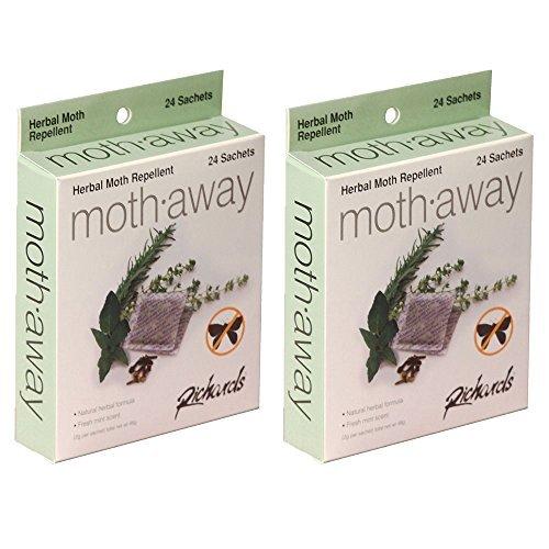Richards Homewares - Moth Away Sachets - Nontoxic - 48 Pack (White) (48 Sachets) ()