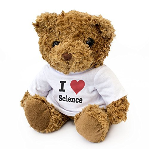 New - I Love Science - Teddy Bear - Cute and Cuddly - Gift Present Birthday Xmas