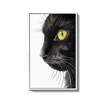 ZSH-two Cuadros Decorativos Colgantes Pintura Mural Gato Creativo Dormitorio Pintura de Noche (Color : B, Tamaño : 35 * 55cm): Amazon.es: Hogar