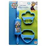 Zak Designs Lets Bake! Rolling Pin and Cookie Cutters for Cooking with Kids, Paw Patrol