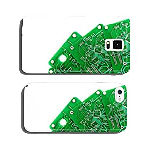 A lot of green PCB on a white background cell phone cover case iPhone5