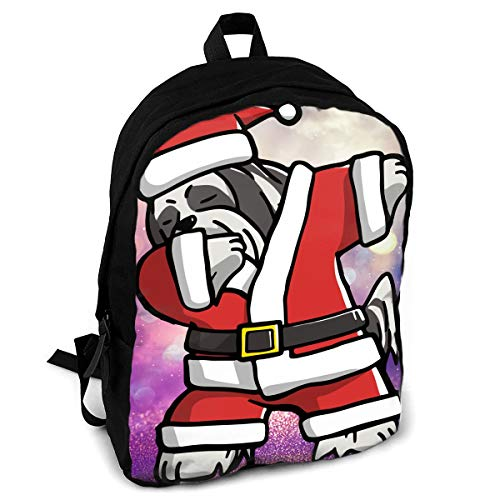 CZZD Dabbing Lhasa Apso Ugly Christmas Travel Laptop Backpack Schoolbags Men And Women On Campus