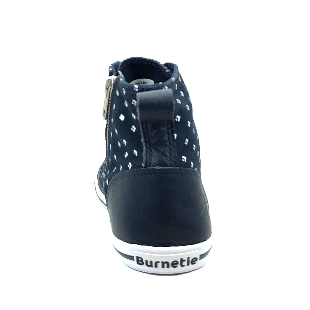 Burnetie Womens Navy Printed High Top Vintage Sneaker