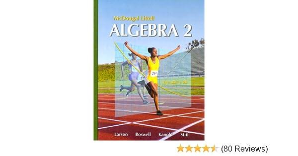 Mcdougal Littell Algebra 2 Holt Mcdougal Larson Algebra 2 Ron
