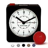Best Home-X Alarm Clocks - Marathon CL030053 Analog Desk Alarm Clock with Auto-Night Review