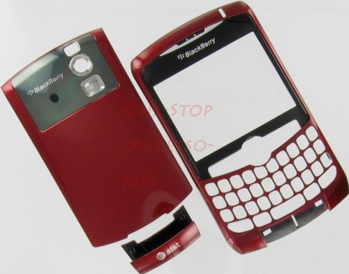 - --NEW AT&T RIM Blackberry Curve 8300 8310 8320 Original OEM Full Housing Case Cover with Lens Battery Back Door Faceplate Bottom U Piece Red Color GSM Plus Tool Kit T5 Screw Driver & Opener