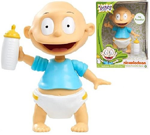Poseable Arms - Nick 90' s Rugrats - 6 inch Vinyl Figure TOMMY - Features Poseable Arms, Legs, and Head, Dressed in His Signature Outfit from the Show, The Ideal Gift for Rugrats Fans of all Ages!