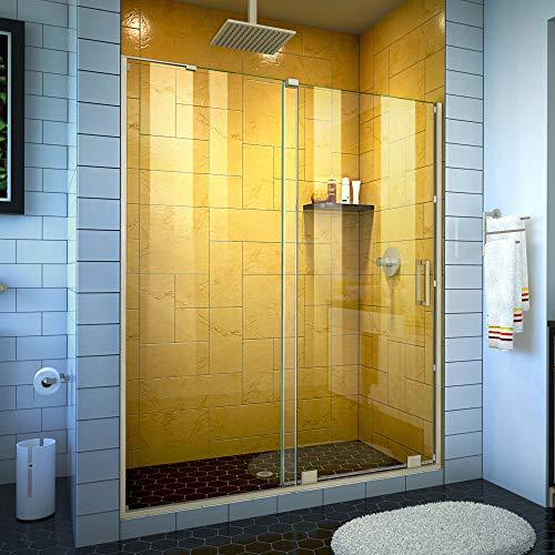 - DreamLine SHDR-1954724-04 Mirage-Z 50-54 in. W x 72 in. H Frameless Sliding Brushed Nickel Shower Door,