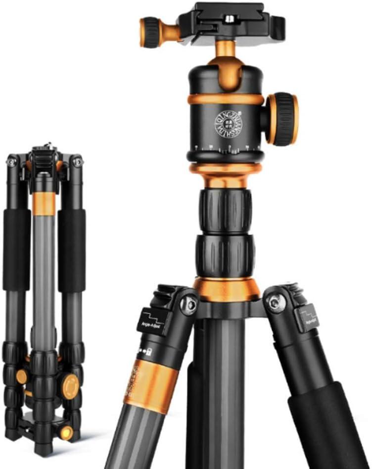 Maximum Load-Bearing 15KG Stable Bracket Portable Professional Camera Mobile Phone GKCD Tripod Carbon Fiber SLR Camera Three-Legged Bracket pan-tilt