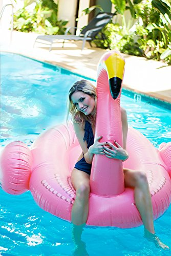 Flamingo Inflatable Floatie Large Ride On Blow Up Pool Toy Swimming Summer Fun Games Pink