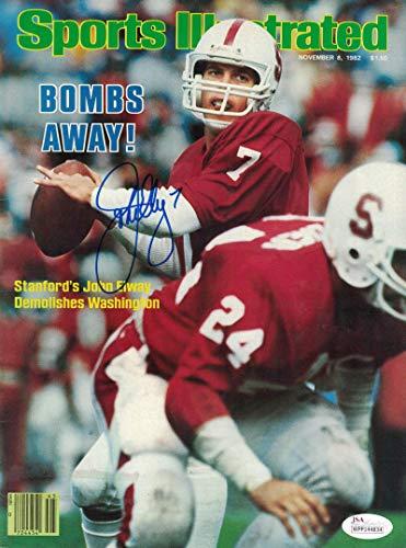 John Elway Autographed/Singed Stanford Cardinals Sports Illustrated 11/8/1982 JSA