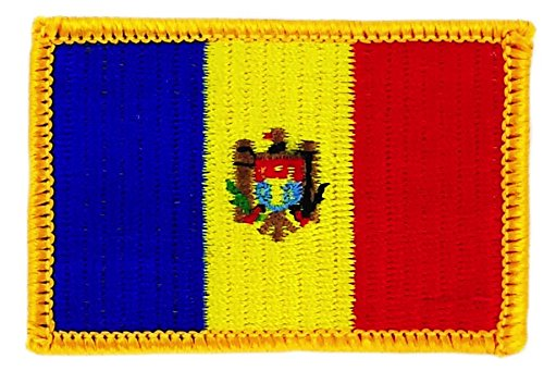 Moldavia moldovo bandiera Patch ricamato termoadesivo stemma backpack Akacha