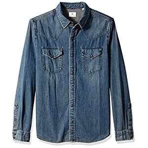 AG Adriano Goldschmied Men's Ethan Long Sleeve Denim Shirt