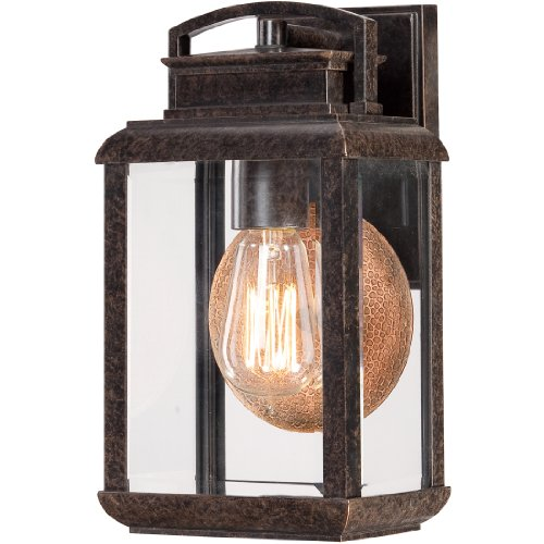 Quoizel BRN8406IB 1-Light Byron Outdoor Lantern in Imperial Bronze For Sale