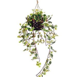 Lopkey Silk Artificial Begonia Flowers Outdoor Indoor Patio Lawn Garden Mini Hanging Basket Decoration 2