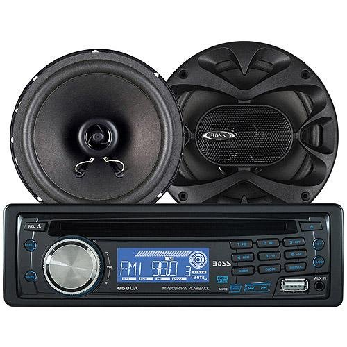 Boss Audio 658CK CD/MP3 Receiver/Speaker Package System Bundle