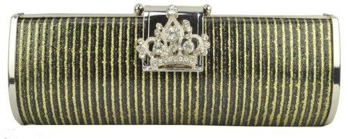 italy gownplanet, Poschette giorno donna Grigio black gold silver small