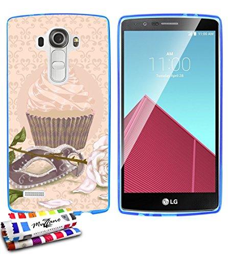 Ultraflache weiche Schutzhülle LG G4 [CupCake Arlequin] [Blau] von MUZZANO + STIFT und MICROFASERTUCH MUZZANO® GRATIS - Das ULTIMATIVE, ELEGANTE UND LANGLEBIGE Schutz-Case für Ihr LG G4