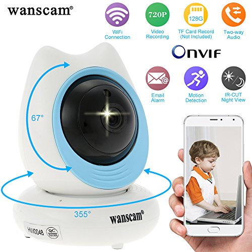Wanscam HD 720P WiFi Wireless IP Camera WiFi Security Camera IR-Cut Night Vision Phone Control Support Max 128GB TF Card