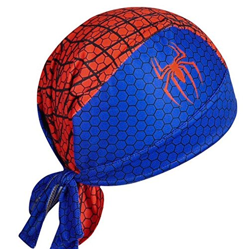 UpMall Outdoor Sports Turban Cycling Turban Skating Headscarf Mountaineering Headscarves Spider Man Blue