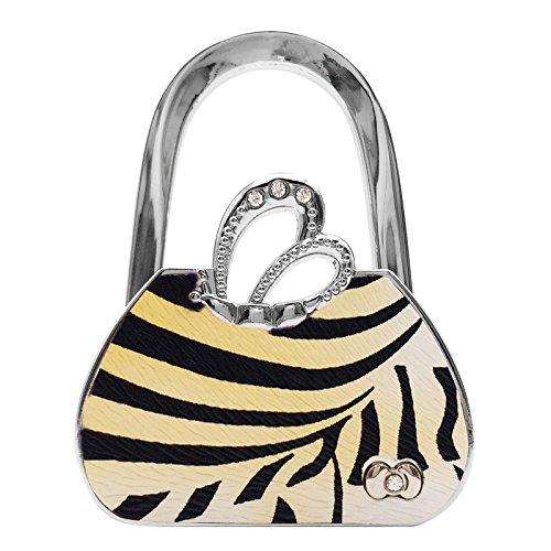 Purse Handbag Hanger Hook Holder Angel's Wings Crystal Folding Handbag Hangers (Leopard Pattern) - Angel Handbag Holder