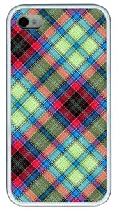 AQ Tartan Customized Rubber White iphone 4/4s Case By Custom Service Your Great Choice