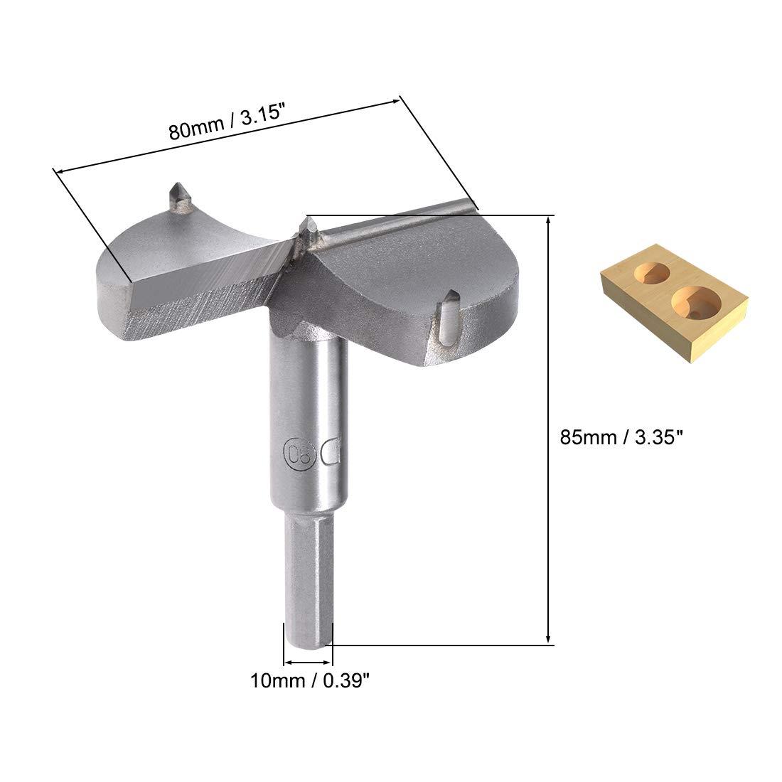 Forstner Brocas Maso cortador de perforaci/ón de perforaci/ón de perforaci/ón para madera de pl/ástico de 15 mm a 80 mm paquete de 1