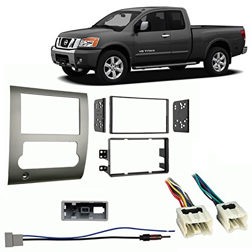 Fits Nissan Titan 2008-2012 Double DIN Stereo Harness Radio Install Dash - Titan Double Nissan Din