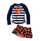 Jojobaby Kid Girl's Two-piece Long Sleeve Swimsuits Bathing suit UPF50+ (2(For:70-80cm))