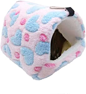 Oncpcare Winter Warm Hamster Bed Playing Soft Hamster Hammock Sleeping Cute Small Animals Nest Hanging Home Resting for Young Guinea Pig Degu Drawl Hedgehog