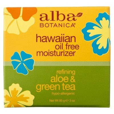 Alba Hawaiian Refining Aloe & Green Tea Oil-Free Moisturizer- 3oz (Moisturizer Free Tea Oil)