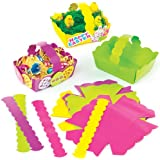Cestini di Pasqua Colorati per Bambini da Creare Personalizzare ed Esporre come Idea Creativa (confezione da 12)