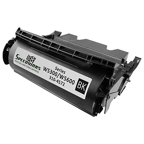 SpeedyInks Refurbished Dell J2925 Black Toner for W5300N, W5600N Laser Printers, 18K Yield for use in Dell Laser W5300N, Dell Laser W5600N (W5300n Printer Laser)