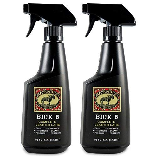 Bickmore Bick 5 Leather Cleaner & Conditioner 16oz Spray (2-Pack) Complete Leather Care (Best Exotic Leather Conditioner)