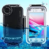 HAWEEL iPhone 7/ 8 Diving Case Professional [40m/ 130ft] Surfing Swimming Snorkeling Photo Video Waterproof Protective Case Underwater Housing with Lanyard (iPhone 7/ 8, Black)
