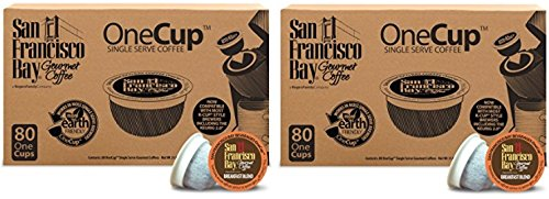 San Francisco Bay OneCup, Breakfast Blend, 80 Count- Single Serve Coffee, Compatible with Keurig K-cup Brewers (2 Pack) by San Francisco Bay Coffee