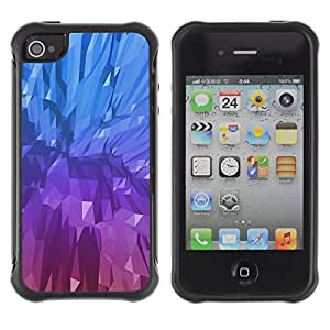 WAWU Funda Carcasa Bumper con Absorci??e Impactos y Anti-Ara??s Espalda Slim Rugged Armor -- crystal blue purple painting mineral -- Apple Iphone 5C