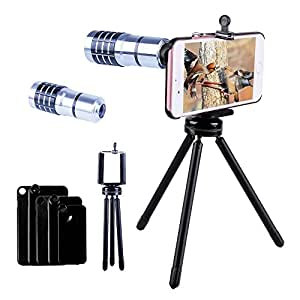 Telephoto lens for iphone 7/7 plus/6s/6s plus,Evershop10X Telephoto Lens with Aluminum Telephoto Phone Camera Lens With Tripod+Phone Holder+phone case for iPhone 7/7Plus/6S/6S Plus(Silver-iPhone)