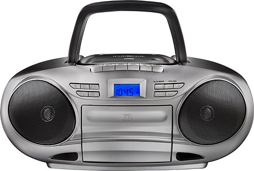 (Insignia CD/cassette Boombox with Am/fm Radio)