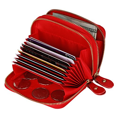 Accordion Purse (Kinzd Accordion Wallet RFID Leather Card Wallet for Women Credit Card Holder)