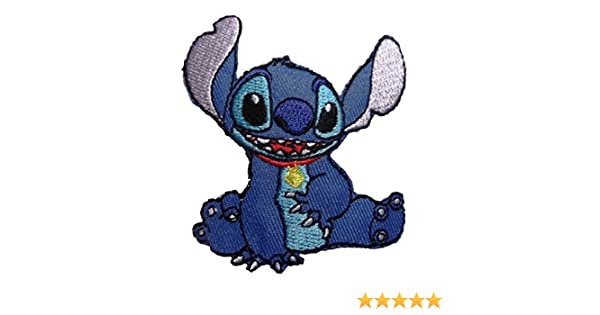 Disney Lilo /& Stitch Movie Stitch Character Sitting Embroidered Patch