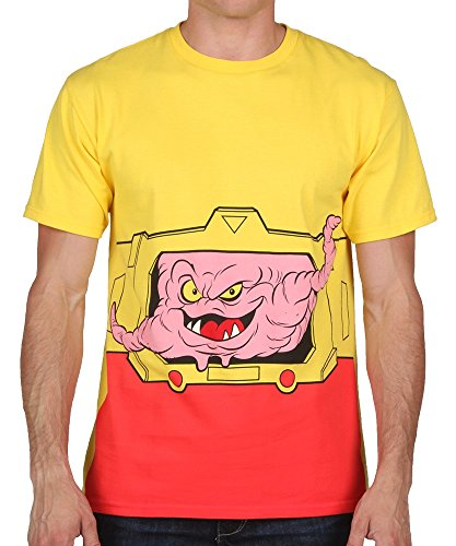 Krang Costume (Teenage Mutant Ninja Turtles I Am Kraang Adult Yellow T-shirt (Adult Large))