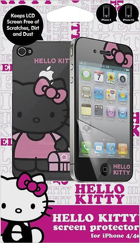 Hello Kitty HK-10898-IPH Screen Protector for iPhone with Mirror - 1 Pack - Retail Packaging - Pink