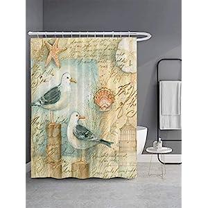 51IqXZmqlTL._SS300_ Beach Shower Curtains & Nautical Shower Curtains