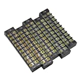 uxcell 5 Pcs 10 Positions Dual Rows 600V 25A Cable Barrier Block Terminal Strip TB-2510L